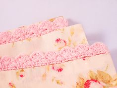 This step by step photo tutorial will show you how to make a pretty cotton pillowcase, with a crocheted scalloped edging for decoration. The edging could be used on any number of items, and is really easy to crochet.