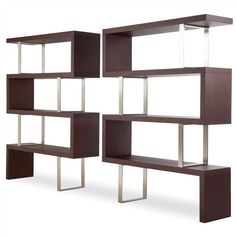 interesting?    http://office-turn.com/wp-content/uploads/2011/12/Pearl-4-Shelf-Wenge-Finish-Room-Divider-Bookcase.jpg