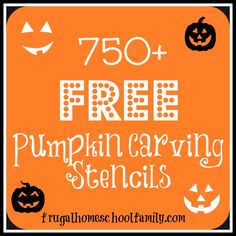750+ FREE Pumpkin Carving Stencils - Frugal Homeschool Family