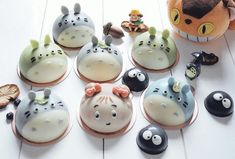 Totoro mousse cakes by @agnes_chii