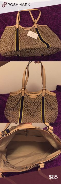 Coach Handbag Brand new without tag!! Never used lightweight handbag. Comes with care instructions insert. Beautiful bag great for everyday use. Coach Bags Totes