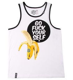 LRG Go Fuck Yourself Tank Top Vest White