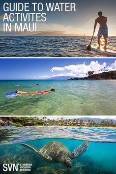 Aloha to this water-lover's paradise. Unspoiled Hawaiian beaches and swimmable Pacific waters edge a quarter of Maui's 120-mile coastline. So for aquatic adventures as vibrant as the island's underwater wildlife, just look makai (toward the sea).