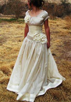 Cream Chiffon Spanish Wedding Gown by ThePilaShoppe on Etsy Spanish Themed Weddings, Spanish Wedding, Wedding Looks, Wedding Day, Wedding Attire, Wedding Dresses, Chiffon, Feminine, Gowns