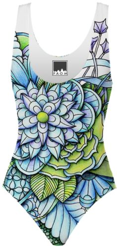 Peaceful Flower Garden Swimsuit