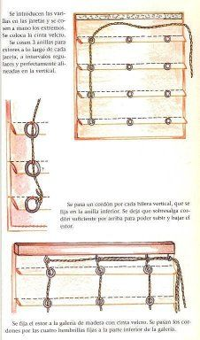 Estor plegable con accionamiento cordón