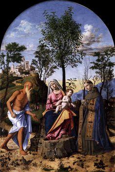 CIMA da Conegliano Madonna of the Orange Tree c. 1495 Tempera and oil on panel, 212 x 139 cm Gallerie dell'Accademia, Venice