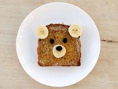 Foods for kids bear peanut butter and banana sandwich. bear peanut butter and banana sandwich Snacks To Make, Food To Make, Kid Snacks, Tostadas, Animal Snacks, Banana Sandwich, Sandwiches, Little Chef, Brunch