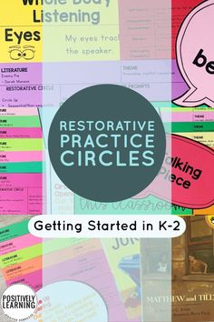 Have you been thinking about introducing restorative practice in your classroom? This packet offers background knowledge, helpful tips, and 20 read aloud lessons to get started with restorative circles. #restorativejustice #restorativecircles #morningmeeting