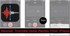 #Solutions To #Recover #Trimmed #VoiceMemos From #iPhone. 1: Restore Trimmed Voice Memos From iPhone Using #iTunesBackup. 2: Restore Voice #Memos From iPhone Using #iCloudBackup. 3: Recover Trimmed Voice Memos From iPhone Without Backup. Recovery Tools, Data Recovery, Icloud Sign In, Bedroom Wall Designs, Used Iphone, Ipod Touch, Restore, The Voice, Ios