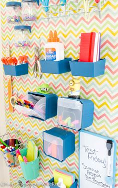 How to create a Back to school peg board organization wall @nationalhardware #sp