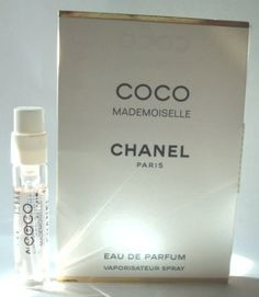 CHANEL COCO MADEMOISELLE EDP SAMPLE VIAL .05FL OZ by CHANEL. $5.00. COCO MADEMOISELLE CHANEL Eau De Parfum 2ml-0.06 oz For Women. Vial Sample Spray. New in Card. COCO MADEMOISELLE CHANEL Eau De Parfum 2ml-0.06 oz For Women. Vial Sample Spray. New in Card