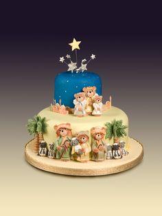 Cute Christmas cake Nativity scene http://www.karendaviescakes.co.uk/Moulds/?p=86_shepherds  http://www.karendaviescakes.co.uk/Moulds/?p=85_Kings  http://www.karendaviescakes.co.uk/Moulds/?p=87_Mary_%26_Joseph