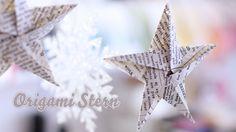 """Ein Origami Stern aus 6x6"""" Papier mit 5 Spitzen. Hier zeige ich euch wie man schnell aus einem Stück Papier einen zauberhaften Weihnachtsstern falten kann - ...  origami star 5"""