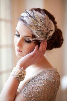 Beautiful headband and cuff