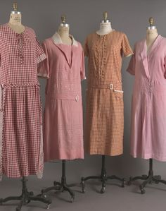 1923 Day Dresses of Cotton and Linen 1920s Outfits, Vintage Outfits, Vintage Fashion, Roaring 20s Fashion, Radium Girls, Art Deco Dress, 20th Century Fashion, Old Dresses, Period Outfit
