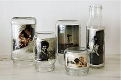 Glass Jar Photo Frame