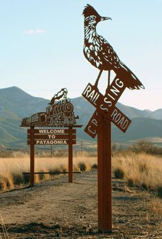 Welcome to Patagonia, in southern Arizona. Sculptures by Deborah Copenhaver Fellows.
