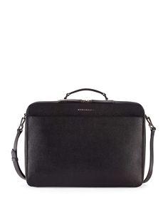 London Leather Blackmore Briefcase, Black