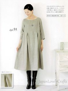 Japanese style girly dress Patterns, Japanese Sewing pattern Book for Simple Outfit Clothing,Sewing Tutorial for tunic pullover, blouse tops – Sewing Projects Japanese Sewing Patterns, Easy Sewing Patterns, Clothing Patterns, Diy Gown, Diy Dress, Simple Dress Pattern, Gown Pattern, Tunic Dress Patterns, Easy Clothing