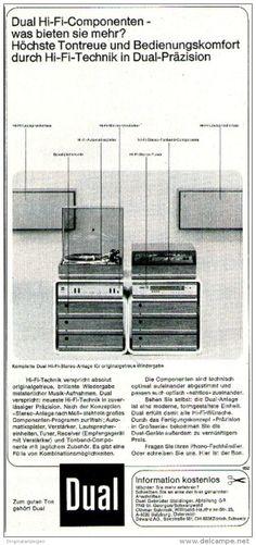 Original-Werbung/ Anzeige 1969 - DUAL HI-FI - ca. 115 x 240 mm