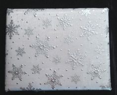 Snowflake themed guest book