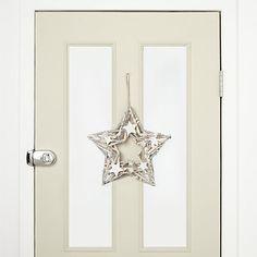 Buy John Lewis Snowdrift Flittered Whitewashed Star Wreath Online at johnlewis.com