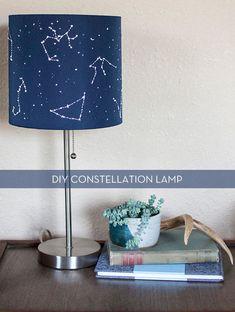 Great idea for Deacon's room. DIY Constellation Lamp - http://diyideas4home.com/2014/01/diy-constellation-lamp/