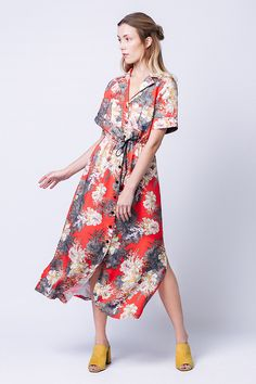 Reeta Midi Shirt Dress pattern by Named Clothing