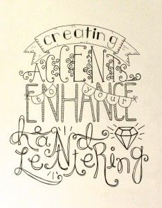 hand lettering accents tutoriall