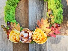 Fresh Fall Decorating | DIY Ribbon Rose Wreath | HGTV >> http://www.hgtv.com/design/make-and-celebrate/handmade/craft-a-cheery-ribbon-rose-wreath-for-fall?soc=pinterest