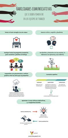 Habilidades comunicativas para equipos de trabajo #infografia #infographic