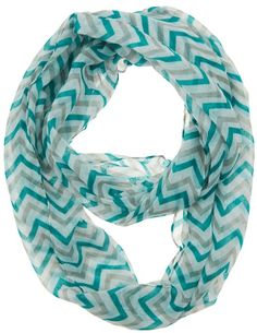 Nearly 30 styles of #chevron infinity scarves as low as $5.50 + free shipping! ChaosIsBliss.com