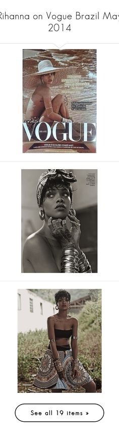 """""""Rihanna on Vogue Brazil May 2014"""" by merrygorounds ❤ liked on Polyvore featuring rihanna, backgrounds, photo and pictures"""