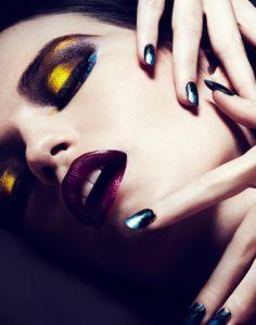 "Title: ""Scarab Spring"" Photographer: Michael David Adams  Model: Rachel Clark MakeUp Artist: Viktorija Bowers http://www.beautyscene.net/beauty-shoots/scarab-spring-michael-david-adams/"