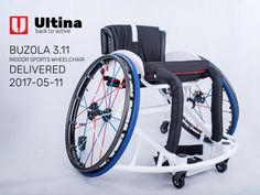 New sports wheelchair Ultina BUZOLA: the greatest virtues of the chair are aluminium 7020 frame, extra solid Spinergy wheels in the custom design, multilayer cushion with the modernised cover and additional high quality and secure textiles with leather parts.
