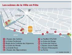 Fête des Vignerons: «La Ville en Fête, ce sera deux choses à voir par heure» - News Vaud & Régions: Riviera-Chablais - 24heures.ch Vevey, Map, Rowing, City, Maps