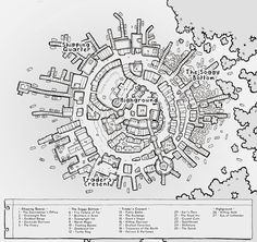 A bustling trading post built on the only dry land in the middle of a vast swamp. Fantasy Map Making, Fantasy City Map, Fantasy Town, Fantasy Rpg, Fantasy World, Village Map, Rpg Map, Dungeon Maps, Map Design
