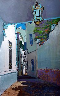 Yuriy Shevchuk: Cadaques. Spain. Acrilic on paper.