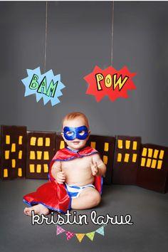 Super hero 6 month photo session www.kristinlarue.com