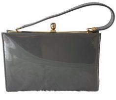 Patent Leather Kelly Bag Grey Purse Designer Old Heiress Handbag https://www.etsy.com/listing/248995103/patent-leather-kelly-bag-grey-purse?ref=shop_home_active_1&utm_content=bufferbe3fc&utm_medium=social&utm_source=pinterest.com&utm_campaign=buffer #vogueteam #etsygifts