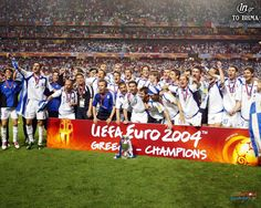 10 years after the Greek miracle! Thank you, guys! Euro, Team Wallpaper, 10 Years After, Events 2016, Latest Football News, Architecture People, Lucky Man, Football Pictures, Champions