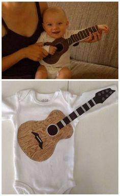 Baby air guitar!