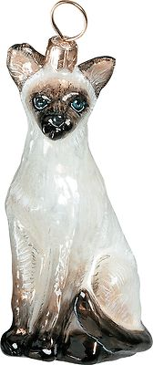 NEW-PET-SET-SIAMESE-CAT-BLOWN-GLASS-CHRISTMAS-ORNAMENT-MADE-IN-POLAND