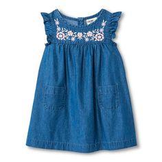 Toddler Girls' Chambray Dress Indigo Blue - Genuine Kids from Oshkosh™