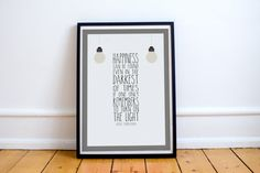 Happiness Can Be Found Even In The Darkest Of Times - Harry Potter Quote Poster…