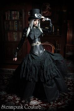 Kato, Steampunk Couture Fashion designer & model. Steamgoth