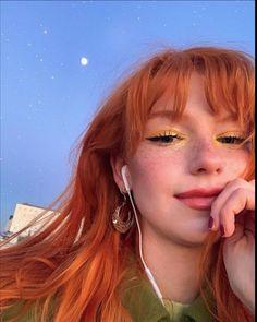 Yellow Makeup, Ginger Girls, Aesthetic Hair, Ginger Hair, Cute Hairstyles, Hair Inspo, Hair Goals, New Hair, Pretty People