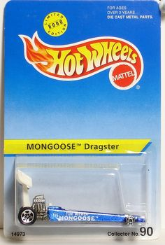 Blue Mongoose Dragster Limited Edition Hot Wheels
