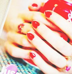 Three Cool Cats Blog: http://www.shopthreecoolcats.com/blog/valentines-day-nail-art-painted-love/ (Source: pinterest.com/glitterguide) #nails #valentines #hearts #red #beauty #fashion #threecoolcats
